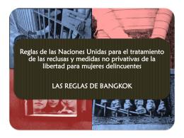 Reglas de Bangkok - Observatorio VIH y Cárceles