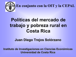 La situación de la pobreza en Costa Rica