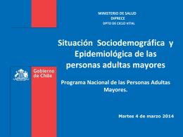 Situación sociodemográfica y epidemiológica