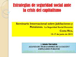 Estrategias de seguridad social ante la crisis del capitalismo