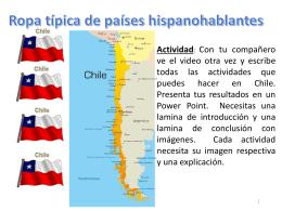 Ropa típica de países hispanohablantes