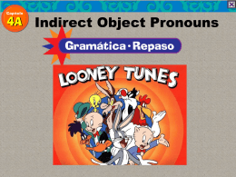 with the indirect object pronouns