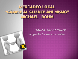 MERCADEO LOCAL gánese al cliente ahí mismo MICHAEL BO¨HM