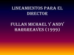 LINEAMIENTOS PARA EL DIRECTOR - Gestionescolar