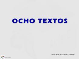OCHO TEXTOS