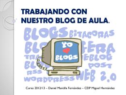 trabajando con nuestro blog de aula.