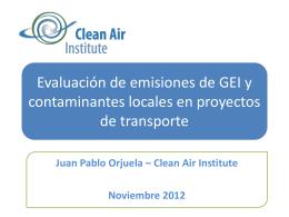 Evaluación de emisiones de GEI y contaminantes
