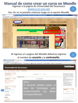 Manual Básico moodle - Universidad del Soconusco