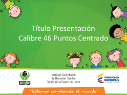 Plantilla ICBF - Presentaciones Power Point