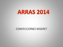 ARRAS 2014 - Confecciones Niseret