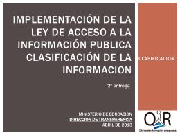 Informacion reservada Presentacion