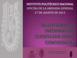 taller sobre la información clasificada como confidencial