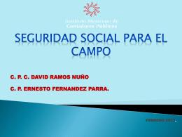 SEGURIDAD SOCIAL PARA EL CAMPO