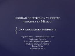Libertad religiosa y libertad de expresión en méxico: una asignatura