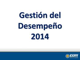 Sensibilización Gestion de desempeño 2014