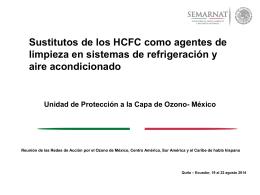 Sustitutos de los HCFC como agentes de limpieza en sistemas de