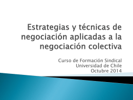 Estrategias y técnicas de negociación para