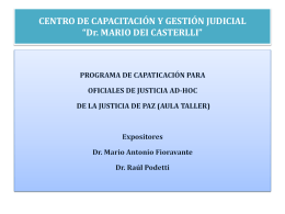 MARIO FIORAVANTE - Poder Judicial de la Provincia de Misiones