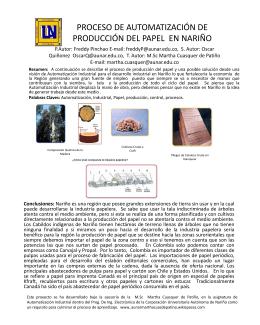 PROCESO DE AUTOMATIZACIÓN DE PRODUCCIÓN DEL PAPEL