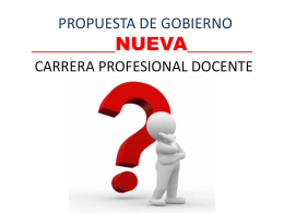 propuesta de gobierno nueva carrera profesional docente
