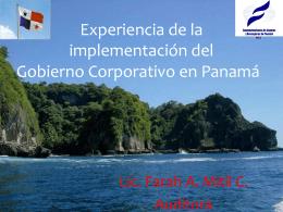 Prácticas de gobierno corporativo en panamá