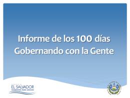 100 Días de Gobierno - Ministerio de Medio Ambiente y Recursos