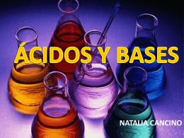 ÁCIDOS Y BASES - Liceo Marta Donoso Espejo