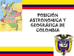 posición astronomica y geográfica de colombia