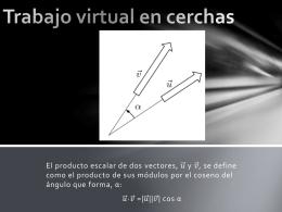 Trabajo virtual en cerchas