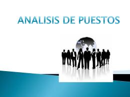 Apresentación: análisis de puestos.