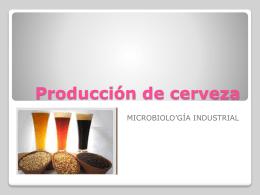 Producción de cerveza