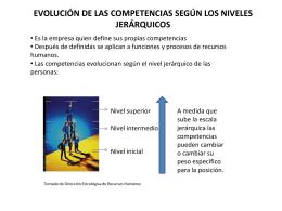 EVOLUCIÓN DE LAS COMPETENCIAS SEGÚN LOS NIVELES