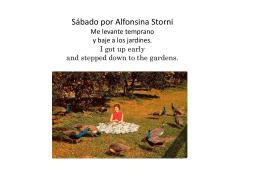Sábado por Alfonsina Storni Me levante temprano y baje a los