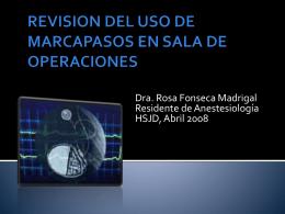 REVISION DEL USO DE MARCAPASOS EN SALA