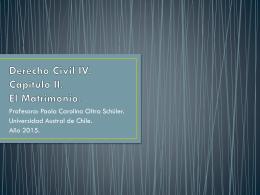 Sistema matrimonial chileno y la jurisdicción sobre el matrimonio
