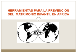 kit de herramientas para la prevencion del matrimonio infantil en africa