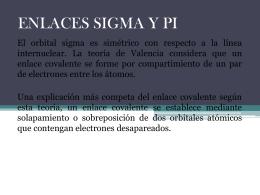 ENLACES SIGMA Y PI