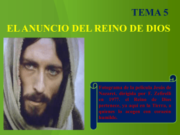 EL ANUNCIO DEL REINO DE DIOS