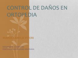 CONTROL DE DAÑOS EN ORTOPEDIA