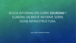 Busca información sobre EDUROAM y elabora un breve informe