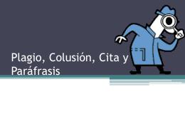 Plagio, cita y paráfrasis - redaccion
