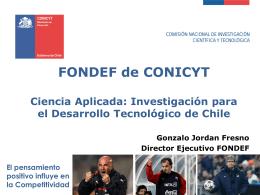 director del Programa Fondef, Gonzalo Jordán