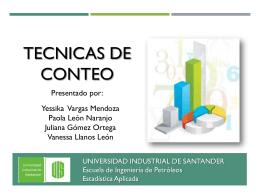 tecnicas de conteo - Universidad Industrial de Santander
