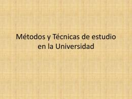 Tipologia Tecnicas Estudio