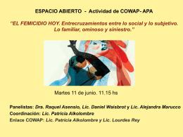 ESPACIO ABIERTO - Actividad de COWAP