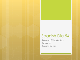 Spanish Día 54 - Madison County Schools