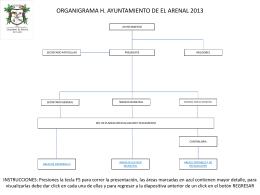 d) ORGANIGRAMA EL ARENAL 2014