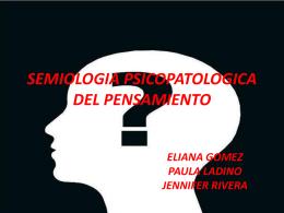 SEMIOLOGIA PSICOPATOLOGICA DEL PENSAMIENTO - MPYL-IV
