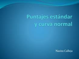 Puntajes estándar y curva normal