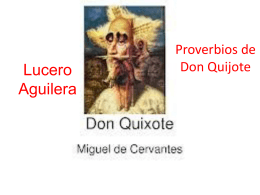 Proverbios de Don Quijote